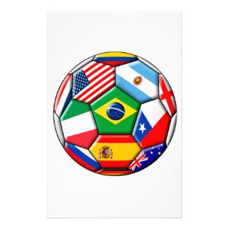 bola con las banderas papelería personalizada