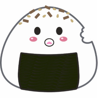 "Bola de arroz de Kawaii ""Onigiri"" con Bitemark Esculturas Fotograficas"