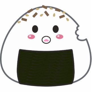 """Bola de arroz de Kawaii """"Onigiri"""" con Bitemark Llavero Fotográfico"""