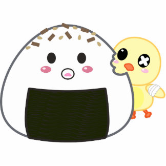 """Bola de arroz de Kawaii """"Onigiri"""" con Ejiki el pol Llavero Fotográfico"""