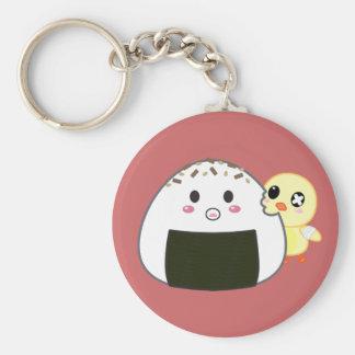 """Bola de arroz de Kawaii """"Onigiri"""" con Ejiki el pol Llavero Redondo Tipo Pin"""