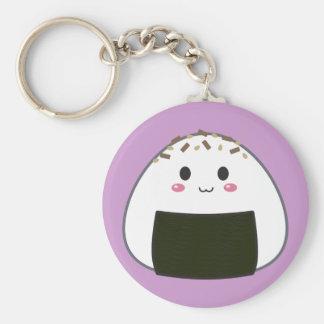 """Bola de arroz de Kawaii """"Onigiri"""" con los desmoche Llavero Redondo Tipo Pin"""