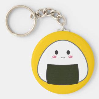 "Bola de arroz de Kawaii ""Onigiri"" Llavero Redondo Tipo Pin"