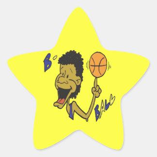 Bola de B Pegatina Forma De Estrella Personalizada