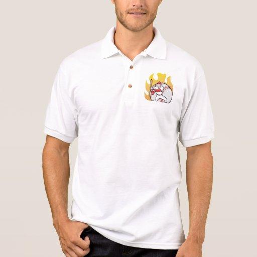 Bola de bateo americana del jugador de béisbol polo t-shirt