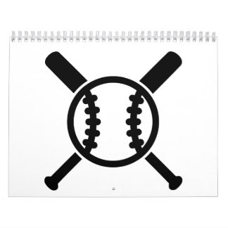 Bola de bates de béisbol calendarios