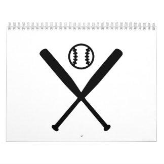 Bola de bates de béisbol calendarios de pared