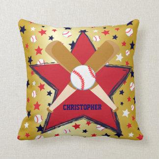 Bola de bates de béisbol y oro personalizados de almohadas