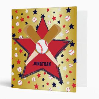 Bola de bates de béisbol y oro personalizados de l