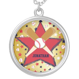 Bola de bates de béisbol y oro personalizados de l joyeria personalizada