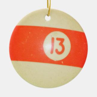 Bola de billar 13 adornos