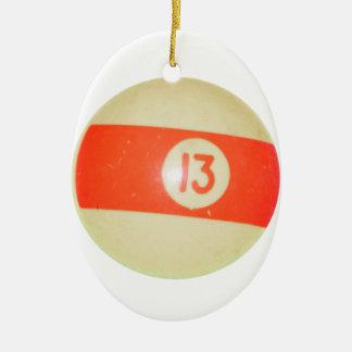 Bola de billar #13 adorno para reyes