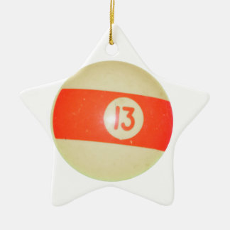 Bola de billar 13 adorno de navidad