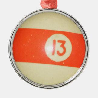 Bola de billar 13 ornamento de navidad