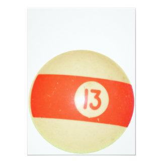 Bola de billar #13 invitación 13,9 x 19,0 cm
