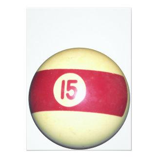 Bola de billar #15 comunicados personalizados