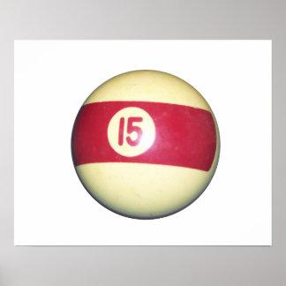 Bola de billar #15 impresiones