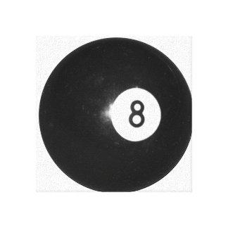 Bola de billar #8 impresion de lienzo