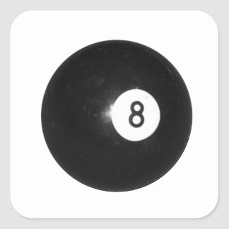 Bola de billar #8 calcomania cuadradas