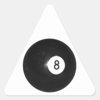 Bola de billar #8 calcomania de triangulo personalizadas