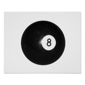 Bola de billar #8 póster