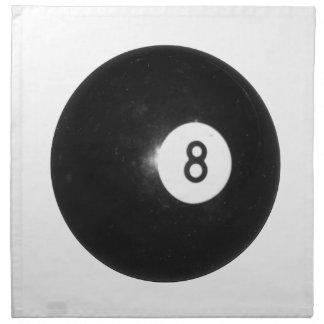 Bola de billar #8 servilleta imprimida