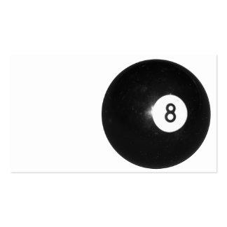 Bola de billar #8 tarjetas de visita
