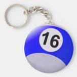 Bola de billar del número 16 llaveros personalizados