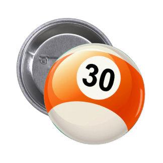 Bola de billar del número 30 pin