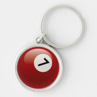 Bola de billar del número 7 llaveros personalizados