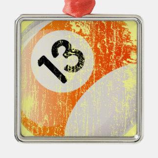 Bola de billar del número de estilo 13 del Grunge Adornos De Navidad