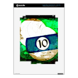 BOLA DE BILLAR NÚMERO 10 iPad 3 SKINS