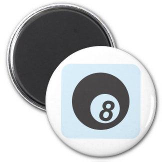 Bola de billar número ocho iman de nevera