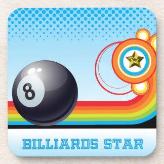 Bola de billar y estrella de los BILLARES de la Posavaso