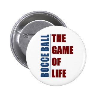 Bola de Bocce el juego de la vida Pin Redondo De 2 Pulgadas