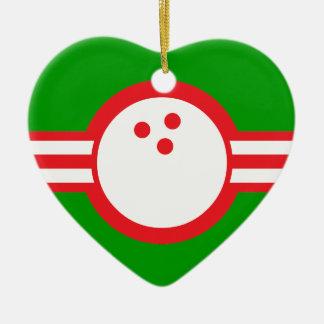 bola de bolos: airstar adorno de cerámica en forma de corazón