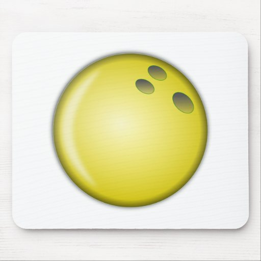 Bola de bolos amarilla alfombrilla de raton