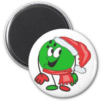 Bola de bolos de las felices Navidad que lleva un  Imán