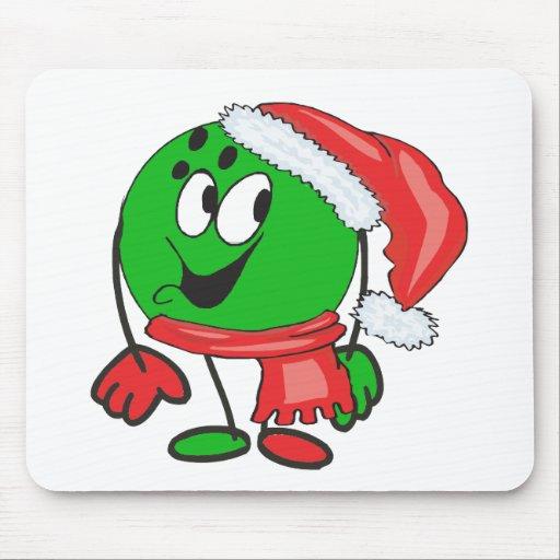 Bola de bolos de las felices Navidad que lleva un  Tapetes De Ratones