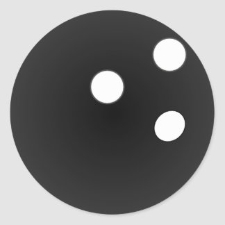 Bola de bolos negra pegatina redonda
