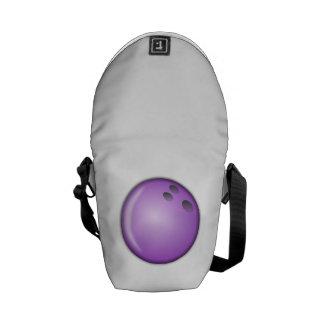 Bola de bolos púrpura bolsa de mensajeria