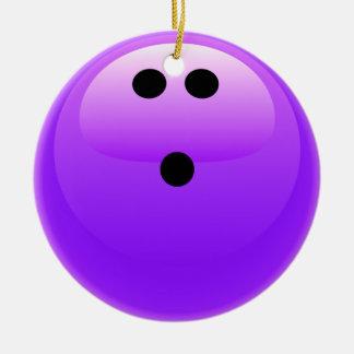 Bola de bolos púrpura ornaments para arbol de navidad