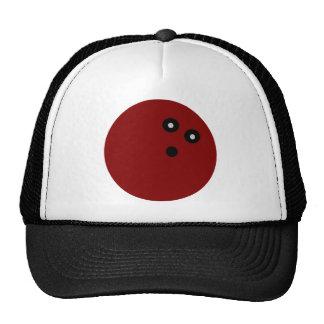 Bola de bolos roja gorra