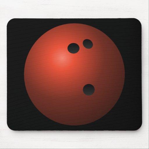 Bola de bolos roja mouse pads