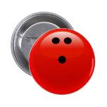 Bola de bolos roja pins