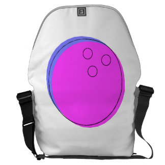 Bola de bolos rosada bolsa de mensajería