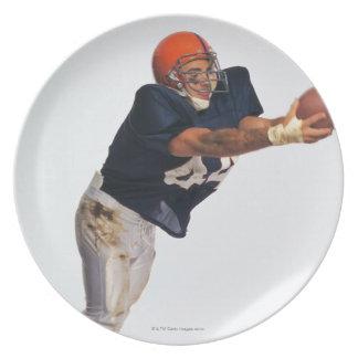 Bola de cogida 2 del receptor del fútbol platos