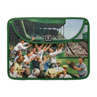 Bola de cogida del home run fundas para macbooks