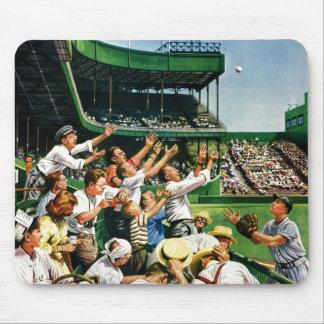 Bola de cogida del home run tapetes de ratón