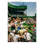 Bola de cogida del home run tarjeta de felicitación